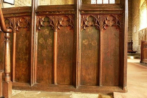 Painted screen, St Andrew - Lyddington