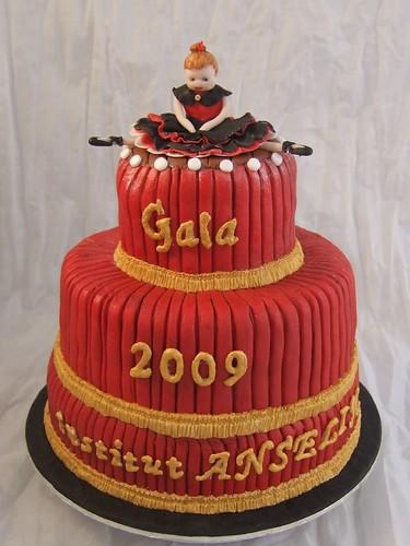 Dance school gala cake