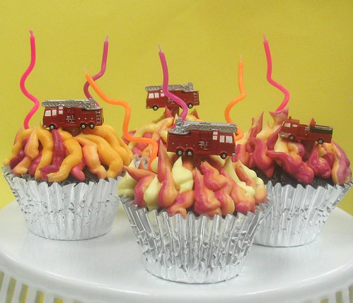 [Image from Flickr]:Firehouse cupcakes $42/dz