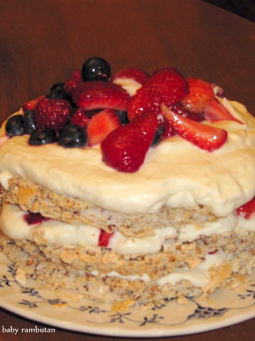 red white and blue pavlova