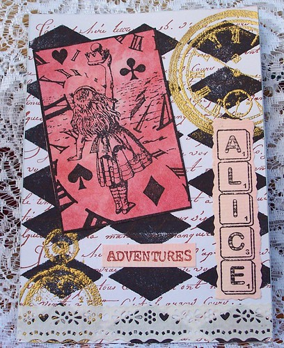 Alice Stamped Collage
