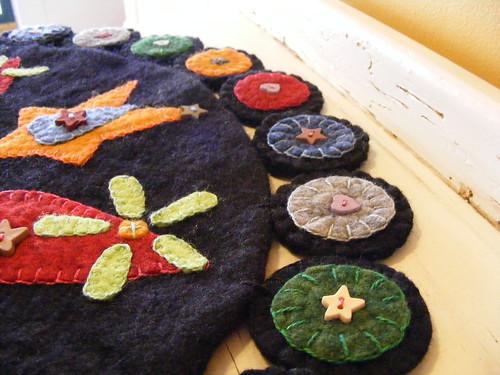 wool penny rug