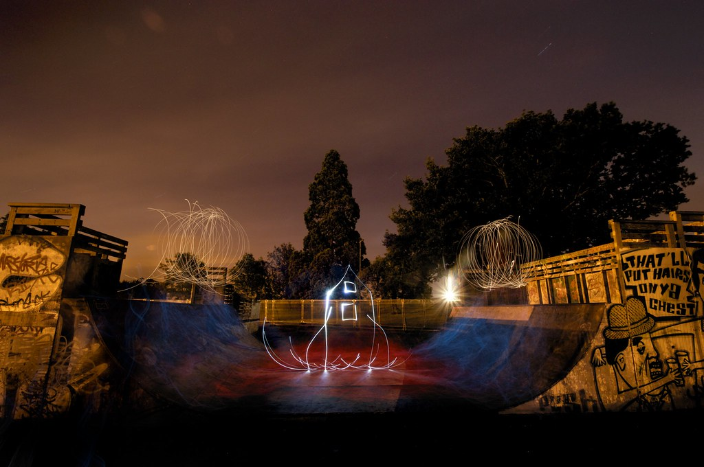 3696265956 3cf976ff6c b Skatepark Light Graffiti Art