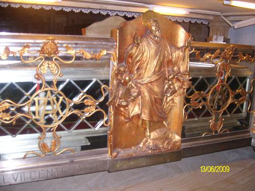 Urna di San Silvestro - Monastero di San Silvestro Fabriano