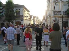 Teilnehmerinnen der EL-Sommeruniversitt unterwegs in Cabanyal (DIE LINKE) Tags: linke europische sommeruni