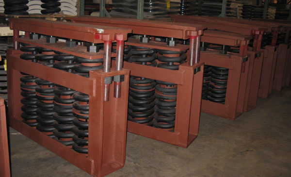 Big Ton Spring Supports for a Chemical Processing Plant