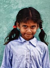 Pose. (Prabhu B Doss) Tags: street school portrait people india girl kid nikon village gal karnataka mysore mandya d80 somnathpura prabhub prabhubdoss zerommphotography 0mmphotography