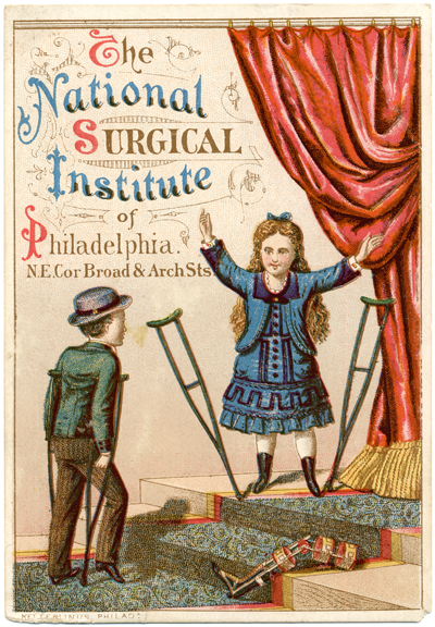 Trade card_crutches theatre boy girl_sRGB_400