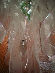 The veil on this vintage purse is made from two different wedding dresses long forgotten. (Junque Addicts) Tags: alteredart amandasmith vintagepurse foundobjectart vintagecostumejewelry wwwalteredalchemistcom vintagelaceveil mixedmediaassemblageart
