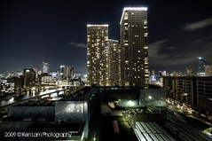Where I live! The Tower block in the middle! (Ken.Lam) Tags: tower japan river boats island tokyo estate grove air bloom depot  monorail hdr coaches shibaura   tamatchi