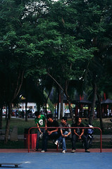 Being young and hip (89830013) (Fadzly @ Shutterhack) Tags: people film boys analog 50mm fuji skating velvia malaysia skateboard fujifilm 50 fujichrome terengganu realphotograph rvp50 leicar6 fadzlymubin shutterhack hangoutinthepark leicasummicronr35mmf20e55 fujifilmfujichromevelvia50rvp50