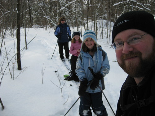 Tripper & fam. out for a ski