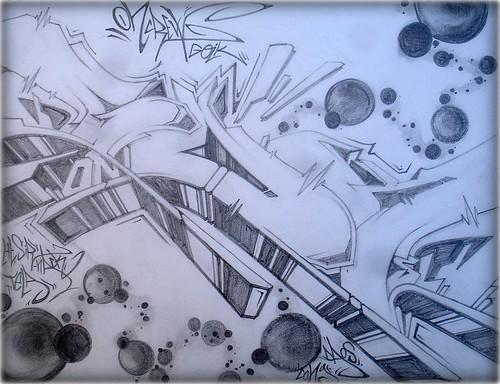 Graffiti dibujos a lapiz 3D - Imagui
