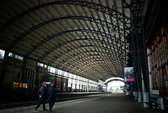 Tunnel Vision (Allard Schager) Tags: holland haarlem netherlands station nikon ns nederland explore cs 69 2009 conductors noordholland tunnelvision archirecture nikkor1870mm northholland linesandcurves i500 d80 emptyplatform conducteurs nikond80 stationhaarlem tunnelvisie allardone allard1 haarlemcs followthecurves centraalstationhaarlem haarlemns zorustigendatvooreenzaterdagmiddag treinenzijneendagjevrij kijktuvooralnaardatmooieplafonddamesenheren zehaddenrooiehoedjesop waaiervanstaal allardschagercom