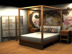 littleproject' (arte mix) Tags: bed room interiordesign wallpainted 3dproject decorativescreen