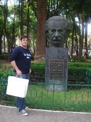 In front of Einstein