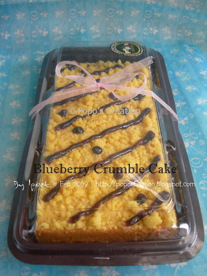 Blueberry crumble Cake for Snack