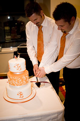 Cake cutting 1 (Alistair & Liam) Tags: gay wedding orange cute cake balloons yummy weddingcake bears memories delicious reception cutting caketopper fruitcake carrotcake cuttingthecake swarovskicrystals forheavenscake alistairliam almotiff swaroskicyrstals