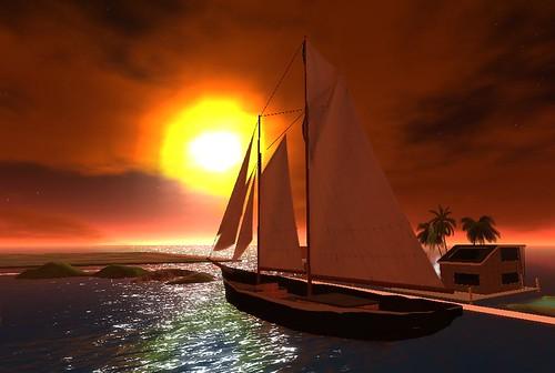 a schooner in OSGrid
