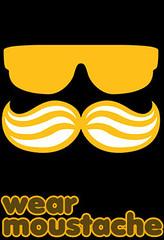 wear moustache