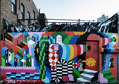"""GIVING COLOR BACK TO PEOPLE"" (remed_art) Tags: street streetart ny newyork color art brooklyn grafiti spray remed"