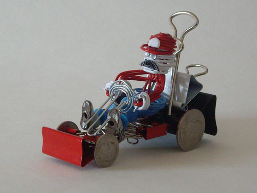 Paper Clip Mario Kart