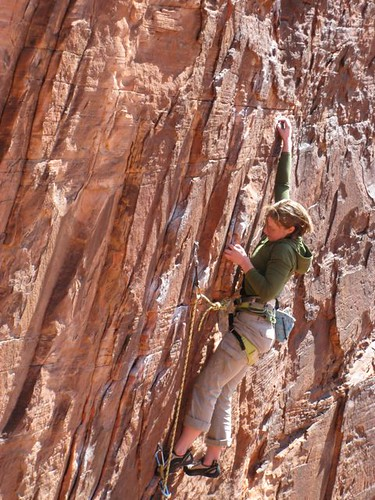 KT on a lead attempt on Totally Clips, which she later sent (it was AWESOME).