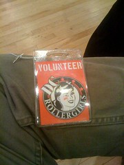 My volunteer badge