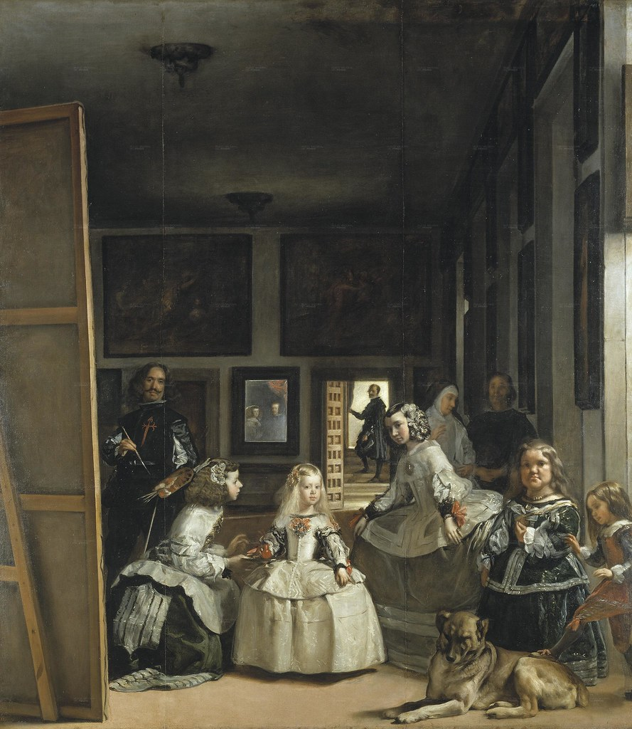 Diego Vela?zquez. Las Meninas (The Maids of Honor) or the Royal Family (1656-57) Oil on canvas. Museo del Prado, Madrid, Spain