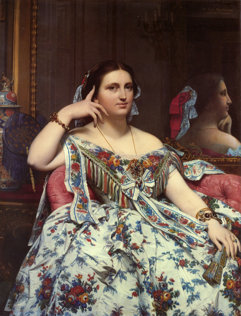 Jean August Dominique Inges (French, 1780-1867) Portrait of Madame Paul-Sigisbert Moitessier (1856) Oil on canvas. 120 by 92.1 cm. National Gallery, London