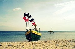 (anka.anka28) Tags: blue sea sky beach boat sand poland polska explore niebieski woda d gdynia orowo morze niebo plaa pomorze kuter mywinners
