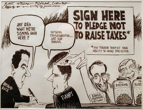 Karl Peterjohn cartoon by Richard Crowson 1996