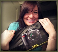 What Excitement Really Looks Like. (Krysta Shippelt (Larson)) Tags: camera new smile thanks happy nikon box yay excited ronnie dslr omg giddy happyhappyjoyjoy d60 krysta rabena mineallmine hmmhowdoiworkthisthing