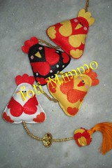 Juntinhas! (Toti Mimmo by Dani Heinemann) Tags: mobile galinha felt feltro galinhas enfeitedecozinha