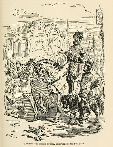 021-Edward el Principe Negro conduciendo a su prisionero