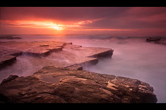 Breaking the clouds | Turimetta Beach, Sydney, Australia (-yury-) Tags: ocean longexposure morning sea sky cloud sun beach water rock sunrise waves sydney australia nsw narrabeen northernbeaches supershot    abigfave ultimateshot turimettabeach turrimeta  goldstaraward vosplusbellesphotos