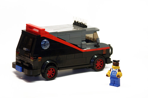 A Team Van and Mr T custom minifig