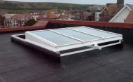 PBW606- Fully Retracting Mono Pitch Sliding Glazed Rooflight For  Roof Garden Access