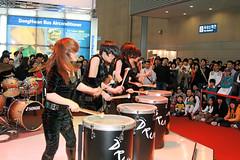 Drum Cats (Greentroll2008) Tags: seoul seoulmotorshow drumcats