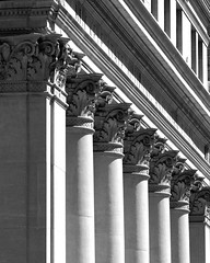 Architecture detailing 101 (AIA GUY..Rwood) Tags: columbus ohio bw architecture columns row classical neoclassical capitals detailing woodnphotography