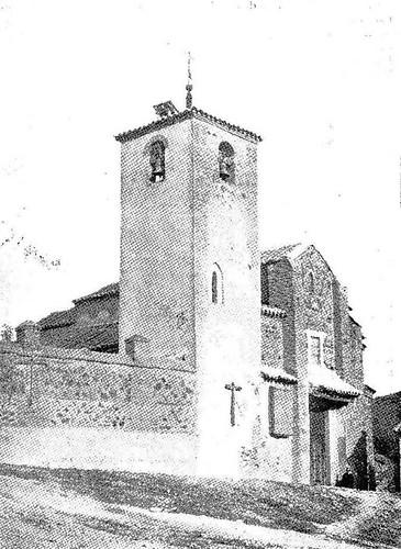 Iglesia de San Lucas (Toledo) en 1908. Foto Revista (Por Esos Mundos)