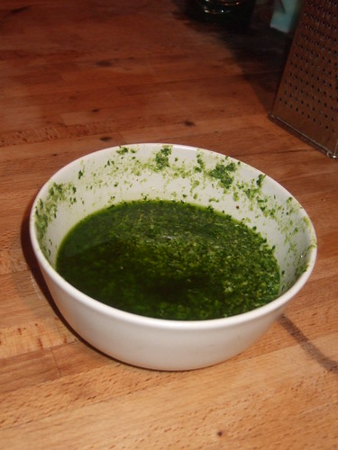 Lovely wild garlic and walnut pesto