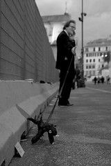 """""""What is really important are details"""" (micheylal2) Tags: street people bw streetart rome roma art artist details bn arapacis shinyhappypeople faustodellechiaie eos400d augustoimperatore"""
