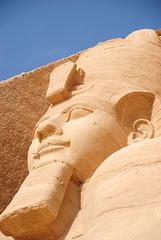 statute of Ramesses II (Simbon) Tags: temple desert egypt middleeast queen unescoworldheritagesite unesco nile pharaoh monuments aswan inscriptions carvings  abusimbel nubian amun statutes assuan ramesses  lakenasser  ramessesii nefertari ptah rahorakhty  rivernile   aswandam      templeofnefertari pharaohramessesii  templeofhathorandnefertari templeoframesesii