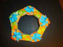 Assembly of Sonobe Great-Rhombicosidodechahedron 2 -(Modular Origami) (Origami Tatsujin 折り紙) Tags: origami sonobemodule modularorigami triangularcupola papiroflexia art papercrafts japaneseart geometry colors multicolored multidimensional paper cooperativelearning mathematicsofpaperfolding mathematicsorigami analyticalgeometry papercraft origamitechniques origamitutorial 折り紙 おりがみ modular fold create unit module sonicboom polyhedra paperart tetrahedralsymmetry colorfulart geometricbeauty geometricart