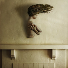 the hunt (brookeshaden) Tags: selfportrait hair season stuffed antlers hanging trophy struggle hunt sickening bolted hunted gunshots nikond80 brookeshaden
