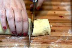 slicing the rolls