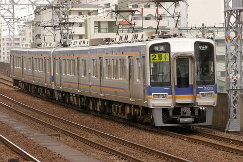 Nankai2000series(Nankai Main line) in Imamiyaebisu,Osaka,Osaka,Japan 2009/5/4