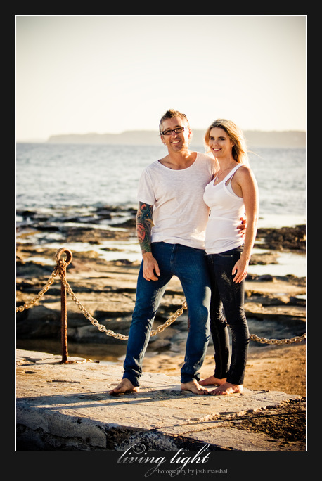 Couple portrait in Newcastle. Newcastle Baths and Newcastle Beach.