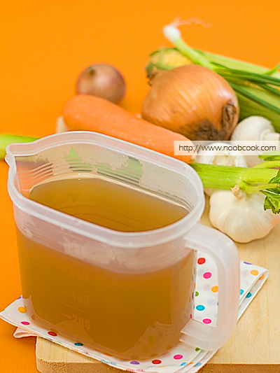 Home made vegetable broth